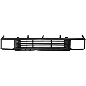 Amazon Com Grille Assembly Compatible With 1990 1995 Nissan Pathfinder Plastic Painted Black Shell And Insert Automotive