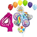My Little Pony 4th Birthday Party Supplies Adventure and Friendship Forever Balloon Bouquet Decorations
