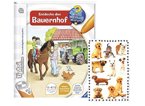 tiptoi Ravensburger Buch Wieso? Weshalb? Warum? - Entdecke den Bauernhof + Tier-Sticker