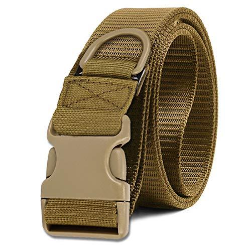 Selighting Taktischer Gürtel Militärisch Nylon Gurtband Molle Verstellbar Gurt mit Schnellverschluss (Braun)