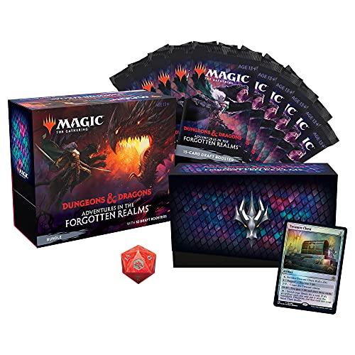Pacote de Magic: The Gathering Adventures in the Forgotten Realms | 10 boosters de draft (150 cards de Magic) + acessórios - em inglês