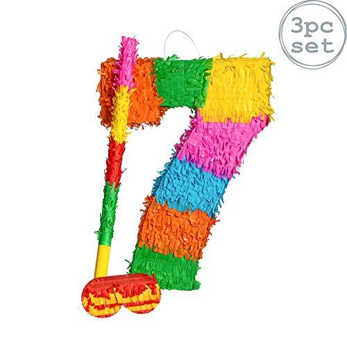Party Factory Pinata Zahlen Sets Kinder Geburtstag Schlag-Pinata 50 x 35 x 8cm Dekoration Geburtstagsdeko 16