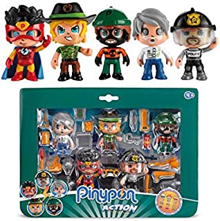 Giochi Preziosi Pinypon Action Figures Multipack 5 Characters with Mix&Match Functions and Accessories