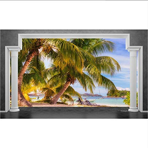 Groß Tapete Rom-Pocos Strandtapeten Wohnkultur Wohnzimmer Seaview 3D Fernsehhintergrundwand 3D-400X280CM
