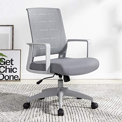 Desk Chair Executive Office Chair Mid Back Office Chair Ergonomic Desk Chair with Armrests Lumbar Support, Mesh Executive Computer Chair for Home Office, Height Adjustable