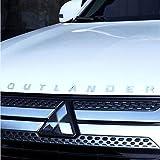 D28JD Logo-Emblem für die Motorhaube ABS Buchstaben Aufkleber für 2019 M-itsubishi Outlander