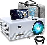 Proiettore WiFi Bluetooth Videoproiettore , 8000 Lumens Full HD Mini Videoproiettore Portatile 1080P Full HD Mini Proiettore Wireless Home Cinema Portatile per iOS/Android/Laptop/TV Box/PS4,5/PPT ecc