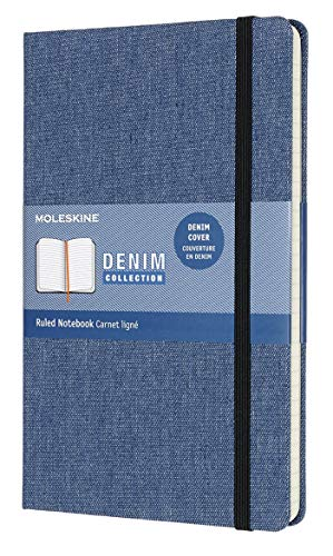 Moleskine Limited Collection Denim Notebook, Hard Cover, Large (5' x 8.25')...
