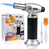 Culinary Blow Torch, Tintec Chef Cooking Torch Lighter, Butane Refillable, Flame Adjustable (MAX...