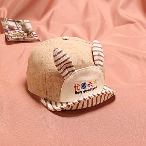 wtnhz Artículos de Moda Caracteres Chinos Bordados Oreja Linda ocupada Sombrero de bebé Gorra de bebé de ala Suave de algodónRegalo de Vacaciones