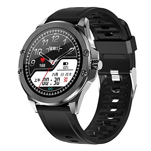BNMY Smartwatch,Reloj Inteligente con Pulsómetro,Calorías,Monitor De Sueño,Podómetro Monitores De Actividad Impermeable IP68 Smartwatch Hombre Reloj Deportivo para Android iOS,E