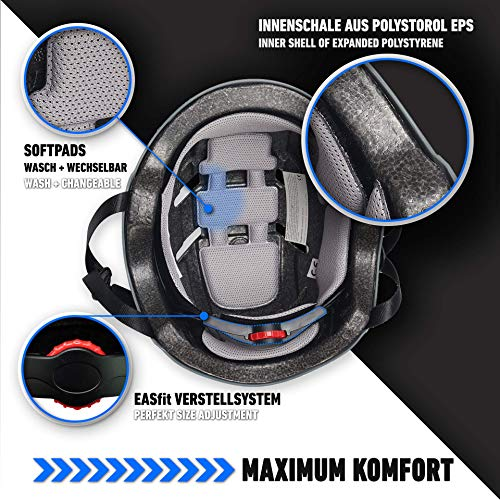 Skullcap® BMX Helm – Skaterhelm – Fahrradhelm – Totenkopf Helm – Herren Damen Jungs & Kinderhelm, schwarz, Gr. L (58 – 61 cm), Skull - 4