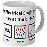 CafePress An Electrical Engineer's Day At The Beach Mug Unique Coffee Mug, Coffee Cup