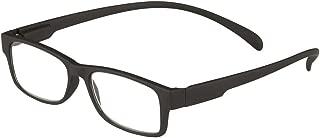 I Heart Eyewear Jasper Neck Hanging Reading Glasses, Black, 2.0