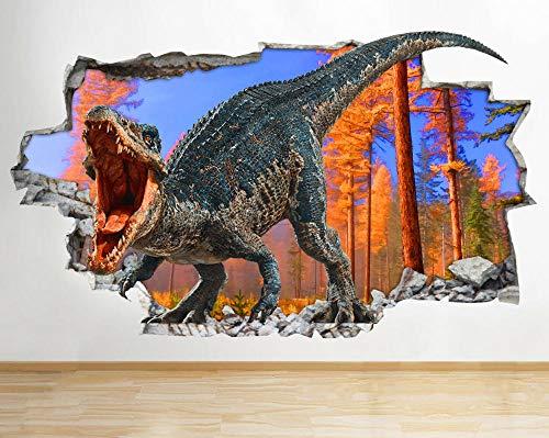 Wandaufkleber Dinosaur tree Cool Smashed Wall Decal 3D Art Stickers Vinyl Room