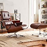 KANJJ-YU al Aire Libre Sillón Personalizado con otomano, Muebles de sofá Giratorio de Cuero para Hotel, sillas de Escritorio de Oficina en casa Interior