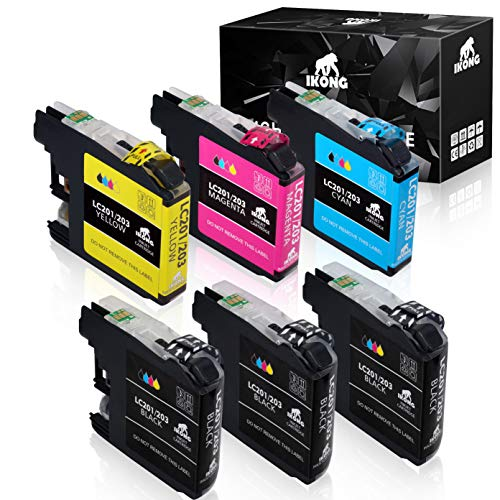 IKONG Compatible Ink Cartridges Replacement for Brother LC203 LC203XL 203 for MFC-J480DW MFC-J885DW MFC-J485DW MFC-J880DW MFC-J680DW MFC-J4420DW MFC-J4620DW MFC-j460DW MFC-J5620DW MFC-J5720DW Printer
