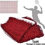 Apofly Portable Filet de Badminton Pliable Filet Tennis Facile à Monter et Transporter Réglable en Hauteur pour Jeux Jardin Exterieur ou Intérieurs