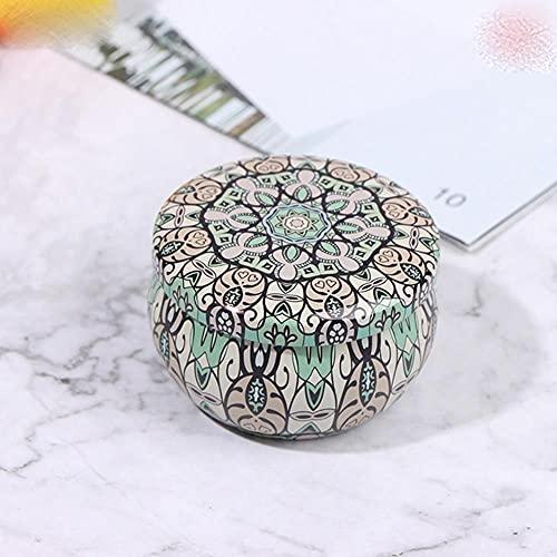 Retro Floral Tin Can Lovely Mini Gift Jewelry Caja de lata Cookie Candy Té Caja de almacenamiento Candy Gift Case 1PC-As Pic