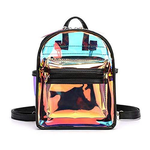 Bags for Woman Transparent Luminous Backpack Lady Cuteness Day Pack Fashion Mini Mochila Black