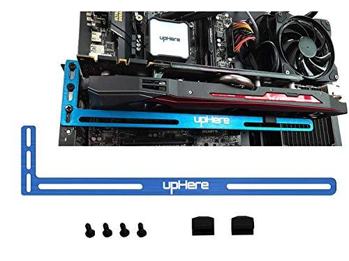upHere Soporte de Tarjeta gráfica, Un Soporte para Tarjeta de Video, una Carcasa GPU Mod- Aluminio(Azul) GL02