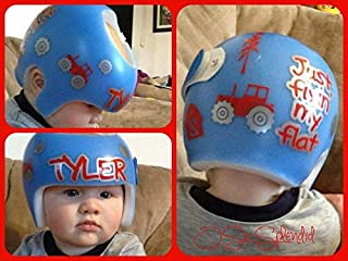 CECILIAPATER Personalized Cranial Band Farm & Tractor Decals Fixin' My Flat Design - Plagiocephaly Helmet Stickers