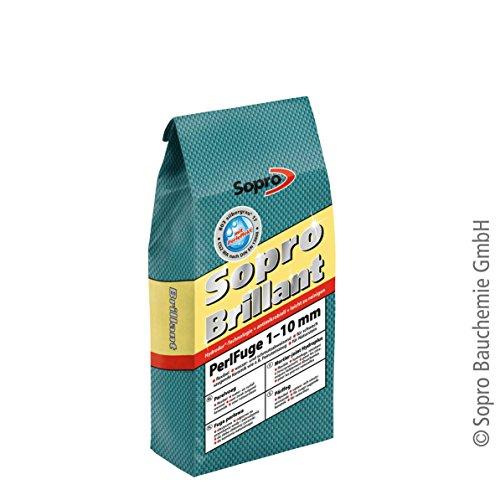 Sopro Brillant® PerlFuge | silbergrau | 5 kg - zementärer, schnell erhärtender, flexibler, wasser- & schmutzabweisender Fugenmörtel