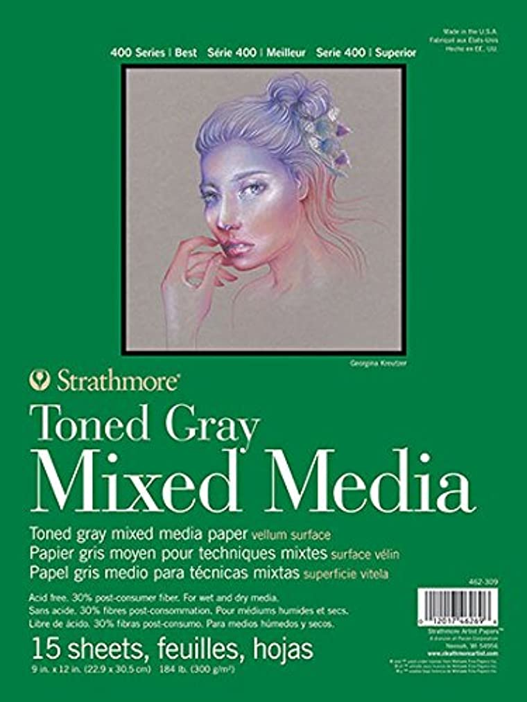 Strathmore 462-311 400 Series Toned Gray Mixed Media Pad, 11