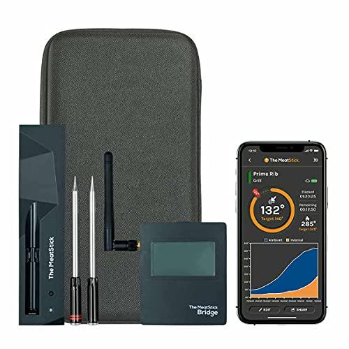 MeatStick WiFi Bridge Set | Unlimited Range Wireless Meat Thermometer App Enabled Low & Slow BBQ,...