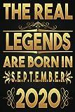 The Real Legends Are Born In September 2020, disfruta de tu cumpleaños, 1er cumpleaños 1 año de regalo para niños, niñas, 1er cuaderno de cumpleaños, regalo de cumpleaños ... para 1er año, tarjeta divertida alternativa 2021