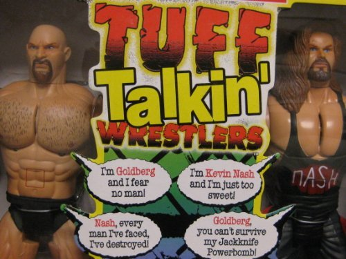 TUFF TALKIN' Electronic Interactive 12 WRESTLERS Goldberg Nash 1999 by Toy Biz