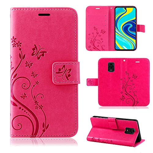 betterfon Hülle für Xiaomi Redmi Note 9 Pro/Redmi Note 9S - Handyhülle Hülle Handytasche Schutzhülle Klapptasche für Redmi Note 9 Pro/Redmi Note 9S Pink