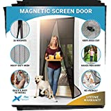 Flux Phenom Reinforced Magnetic Screen Door - Fits Doors up to 38 x 82 Inches...