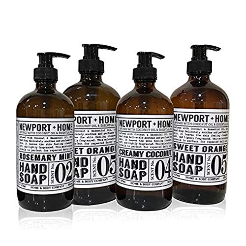 Newport Home Hand Soap Collection 16 FL/473ml Infused with Coconut Essential Oils, Rosemary Mint,...