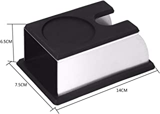 Hot Newest Coffee Tamper Holder Silicon Espresso Support Base Rack Black Color 140x75x65mm Coffee Accessories
