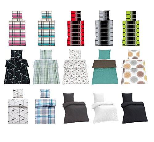 Seersucker Bettwäsche 100% Baumwolle mit Reißverschluss in verschiedenen Größen und viele Designs - Seersucker Bettwäsche 135x200 + 80x80 cm, Design MIA Weiß + Gratis Waschhandschuh von Falco