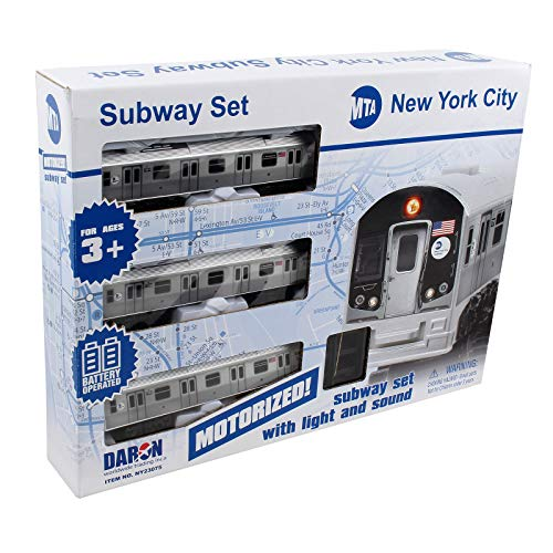 New York MTA New York City 3 Pc. Battery Operated Train Set with Track ,39' X 25'