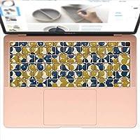 igsticker MacBook Air 13inch 2018 専用 キーボード用スキンシール キートップ ステッカー A1932 Apple マックブック エア ノートパソコン アクセサリー 保護 011217 模様 緑 青