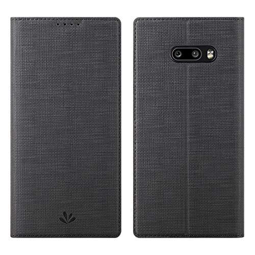 Eastcoo LG G8X ThinQ Hülle Hülle,LG G8X ThinQ Handyhülle,Premium PU Leder Handyhülle Brieftasche-Stil Magnetisch Folio Flip Klapphülle Schutzhülle Cover for LG G8X ThinQ,Schwarz