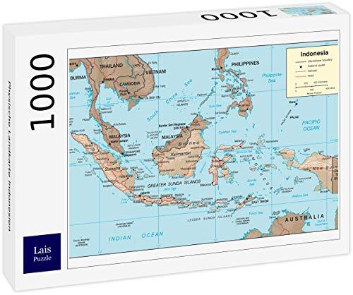 Lais puzzel Fysieke kaart van Indonesië 1000 stuks