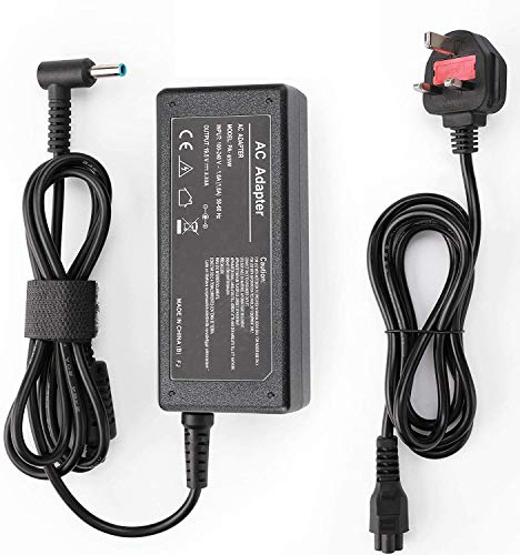 HP 65W Laptop Charger, SunMac 19.5V 3.33A Notebook Power Supply/AC Adapter with Power Cord Supply Replacement for HP Pavilion x360 11 13 15, EliteBook Folio 1040 G1, ProBook G3 G4 G5 G6 G7(4.5 X 3mm)