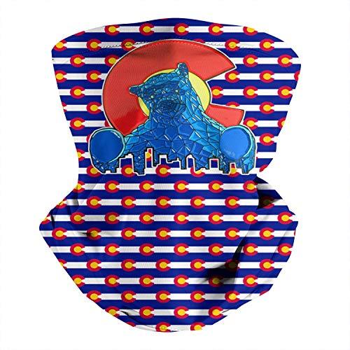 Colorado-Convention-Center-Blue-Bear- Multifunctional Bandana Face Mask Balaclava Headwrap for Cycling Outdoor