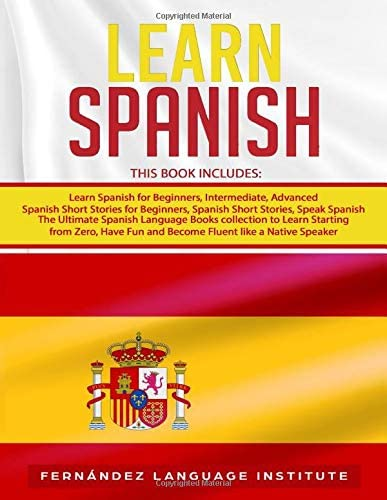 Learn Spanish 6 books in 1 The Ultimate Spanish Language Books collection to Learn Starting product image