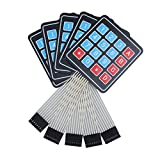 Demiawaking - 5 teclados numéricos con botones de membrana, matriz 4x4, 16teclas, para Arduino