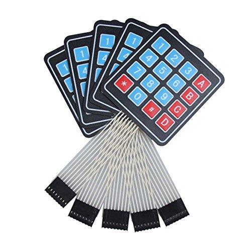 demiawaking 5x 4x 4Matrix Array 16Schlüssel Membran Schalter Tastatur Tastatur für Arduino