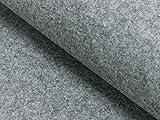 Fabrics-City 4217 - Feltro in feltro per bricolage, 100 cm ~ 4 mm, in feltro, colore: grigio