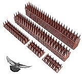 LMIX 12 Pezzi Dissuasori per Piccioni, Repellente per Uccelli con Punte, Spuntoni Anti Animali per Recinzioni Balconi Finestre Giardino Davanzali (4.8M)