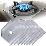 paquete de 8 color negro 26,6 x 26,6 cm Taope Fundas para quemador de gas resistentes al calor protectores de rango de gas con aprobado por la FDA antiadherentes reutilizables