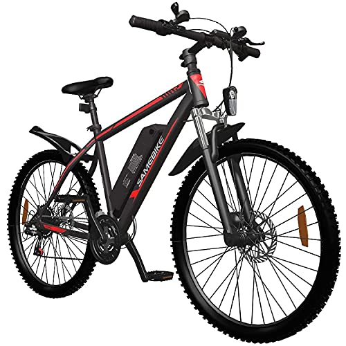 DDFGG Bicicleta Eléctrica, 350w 26 '' Bici De Bicicleta Eléctrica con Batería De Iones De Litio Extraíble 36v / 10aah para Adultos, Palanca De Cambios De 21 Velocidades(Color:Black)