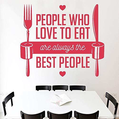 JXFM DIY restaurant wall sticker fork table knife applique who loves food sticker restaurant wall decoration dear 30x35cm